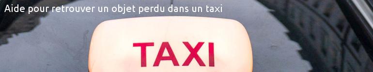 objet perdu dans un taxi