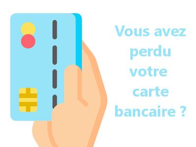 carte crédit perdu