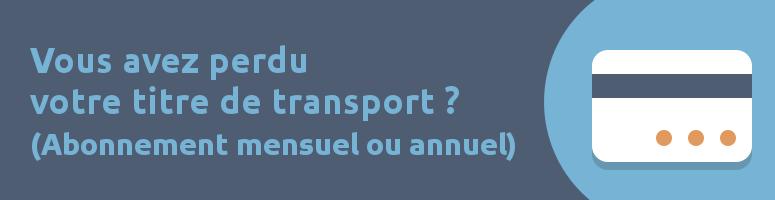 titre de transport perdu