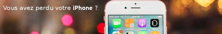 téléphone iphone perdu