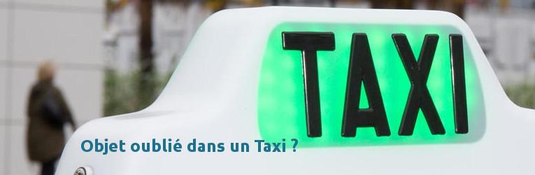 oublié dans un taxi